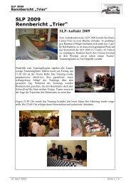 """SLP 2009 Rennbericht """"Trier"""" - Slp-info.de"""