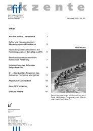 FIF-Akzente Nr. 46 / Oktober 2009 (pdf, 640KB) - Forschungsinstitut ...
