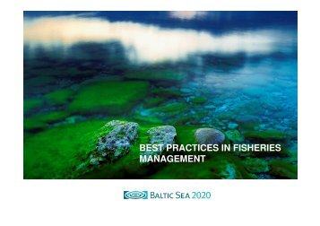 BEST PRACTICES IN FISHERIES MANAGEMENT - Baltic Sea RAC