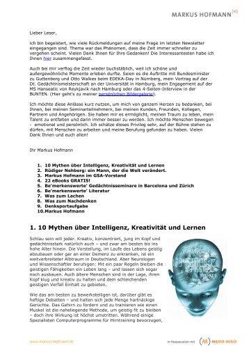 MEMO_MIND_NL_09-03 - PDF - Markus Hofmann