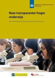 Brochure OCW Naar transparanter hoger onderwijs - NVAO