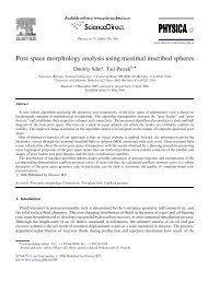 Pore space morphology analysis using maximal inscribed spheres