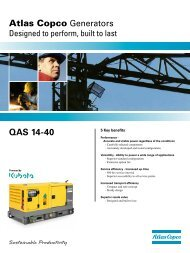 QAS 14-40 Atlas Copco Generators - Ramirent