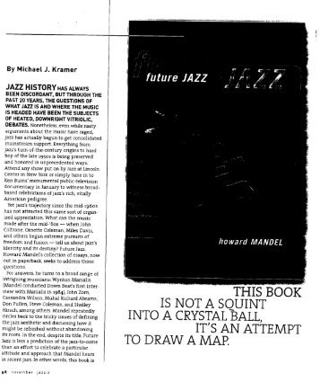 Future Jazz by Howard Mandel - Michael J. Kramer