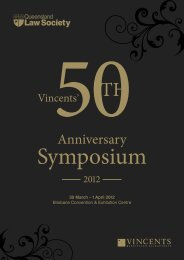 Queensland Law Society 50th Symposium 2012 - Program
