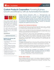 Custom Products Corporation: Powering Business - Esker