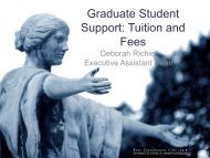 Tuition and Fees - The Graduate College at Illinois
