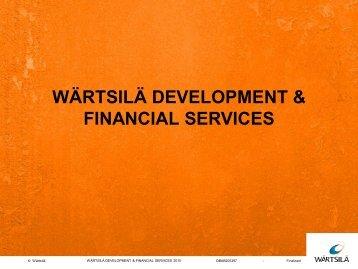 Wärtsilä Development & Financial Services – introduction