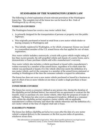 pennsylvania lemon law summary better business bureau. Black Bedroom Furniture Sets. Home Design Ideas