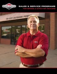 Sales & Service Programs for Briggs & Stratton Dealers
