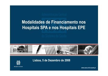ACSS Financiamento Hospitalar