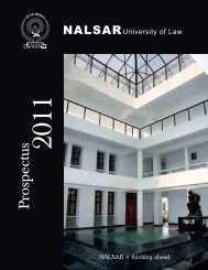 Prospectus 2011 - NALSAR University of Law
