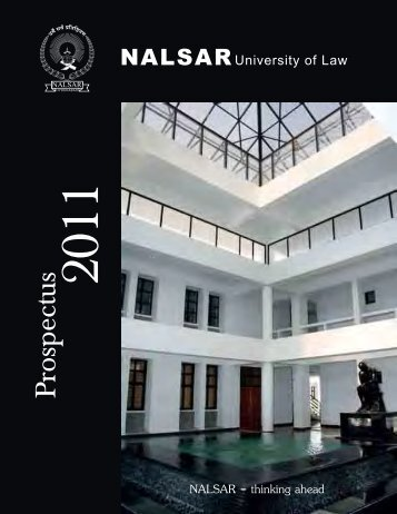 Prospectus 2011 - NALSAR University of Law