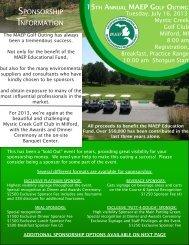 2013 Sponsorship Form - Michigan Association of Environmental ...