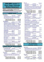 2009 MBO versie 1.1 Open Dagen Kalender Midden-Nederland