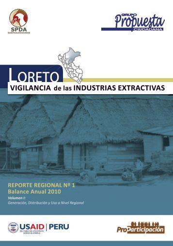 Región Loreto: Vigilancia de las Industrias extractivas # 1 - Grupo ...