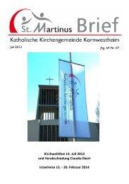 Martinusbrief 2013 Juli - Katholische Kirchengemeinde St. Martin in ...