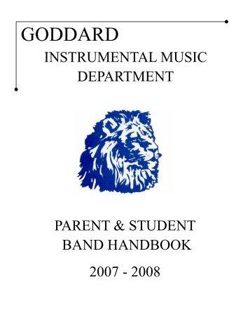 Goddard Instrument Musice Department Handbook - Kansas Music ...