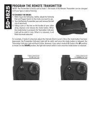 SD-1825 Limited Run Remote Beeper Programming - SportDOG