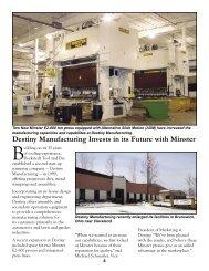 Destiny Manufacturing - Minster Machine Company