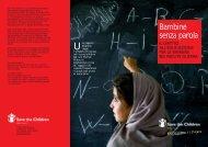 Bambine senza parola - Save the Children Italia Onlus
