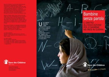 Bambine senza parola - Save the Children Italia Onlus