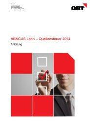 ABACUS Lohn – Quellensteuer 2014 - obt