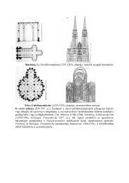 Marburg, Sz. Erzsébet templom (1235-1283), alaprajz, metszet ...