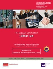 download brochure pdf - Osgoode Professional Development