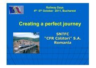 Creating a perfect journey - Railway Days 2013