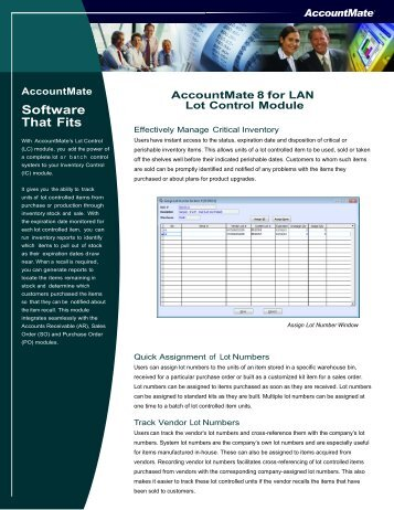 Software That Fits - AccountMate Software