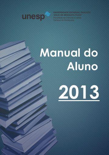 Manual do aluno FCL - Unesp
