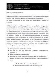 Einladung Ersti-Hütte 2011 - Fachschaft Pädagogik Tübingen