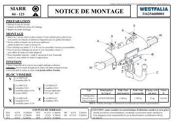 NOTICE DE MONTAGE