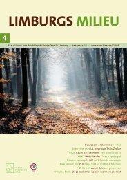 Limburgs Milieu nr. 4 2008 - Milieufederatie Limburg