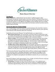 Master Reuser® Overview - Reuse Alliance