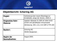 Objektbericht: Schering AG - Egeplast