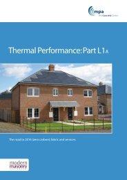 Thermal Performance: Part L1A - Masonryfirst.com