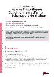 Matériels Frigorifiques Conditionneurs d'air et Échangeurs ... - Cetim