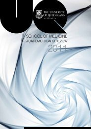 School of Medicine - University of Queensland