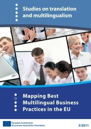 Mapping Best Multilingual Business Practices in the EU