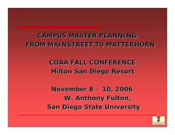 COAA Master Planning 2