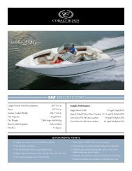 296 SPECIFICATIONS COBALT OUTSTANDING POINTS