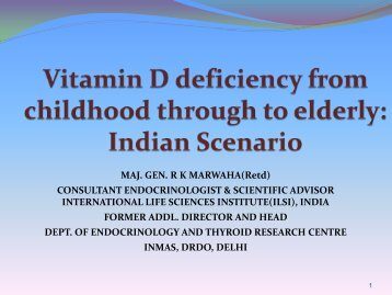 Vitamin D deficiency from childhood through to elderly - Nutrition ...