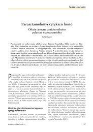 Parasetamolimyrkytyksen hoito - Terveyskirjasto
