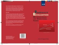 Impact Evaluation, Methodological and Operational Issues - SASANet