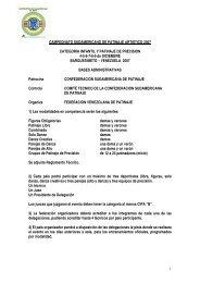 CAMPEONATO SUDAMERICANO DE PATINAJE ARTISTICO 2007