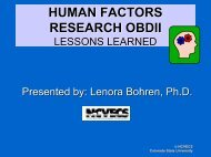 Human Factors Research OBDII: Lessons Learned