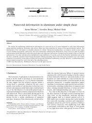 Nanovoid deformation in aluminum under simple shear - Solid ...