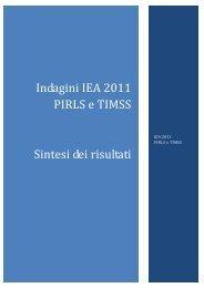 Indagini IEA 2011 PIRLS e TIMSS Sintesi dei risultati - Invalsi